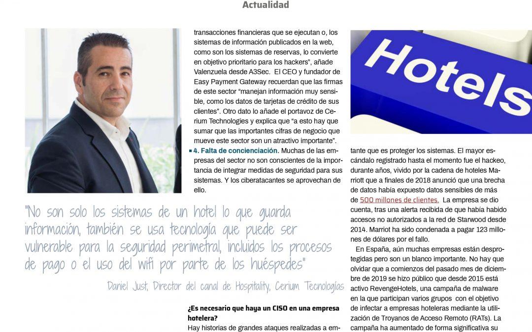 Analizamos las necesidades del sector hotelero en materia de protección de sistemas informáticos