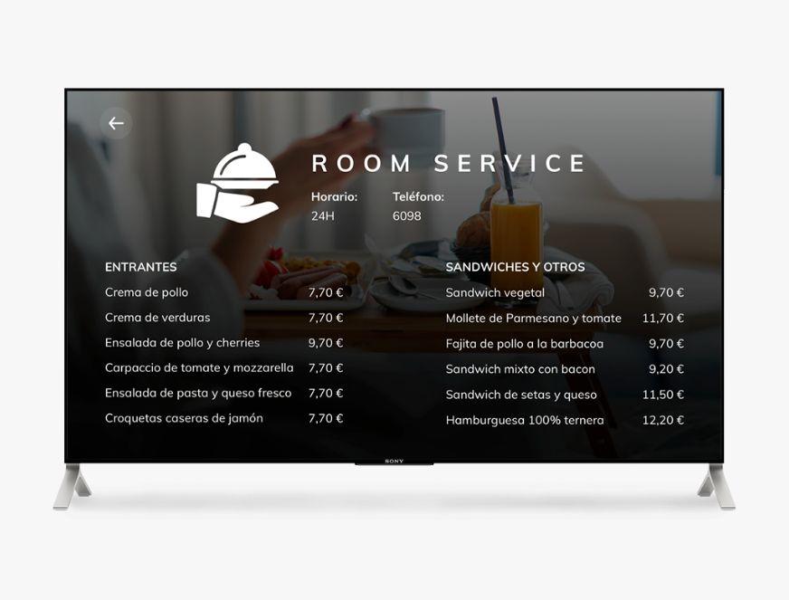 Room service solución iptv para hoteles de Cerium
